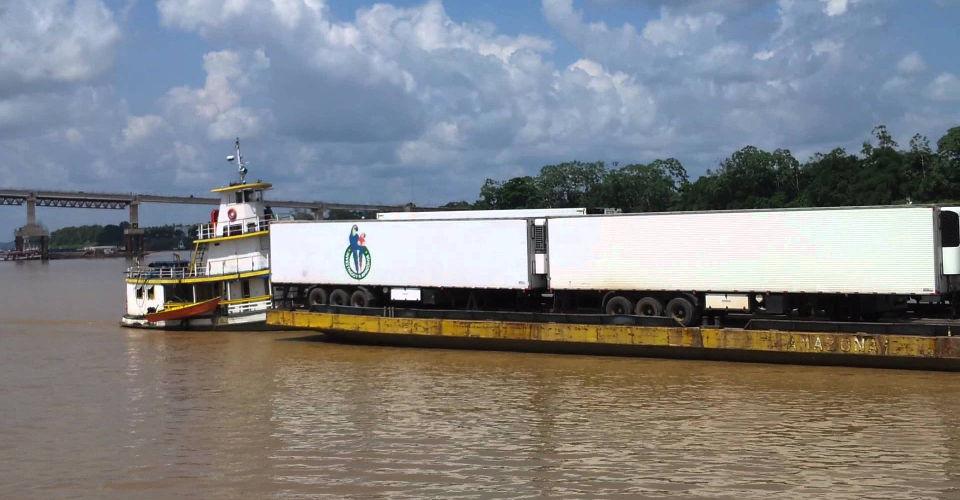 Transporte de Carga em Balsa Porto Velho x Manaus